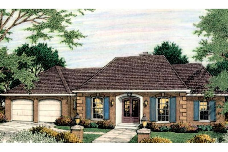 European Exterior - Front Elevation Plan #406-135