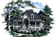 Southern Style House Plan - 4 Beds 3 Baths 3194 Sq/Ft Plan #37-225 Exterior - Front Elevation