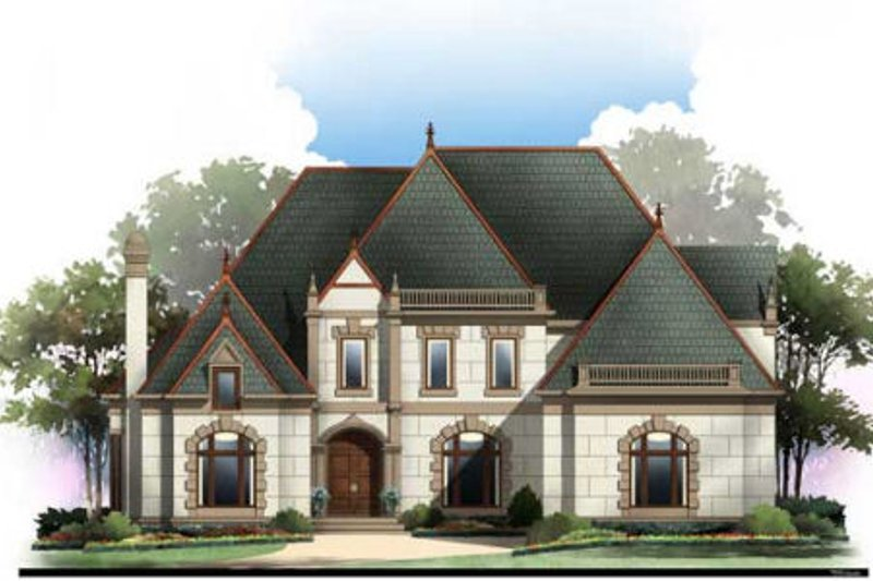 Traditional Style House Plan - 4 Beds 3 Baths 3143 Sq/Ft Plan #119-352 Exterior - Front Elevation