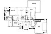 Craftsman Style House Plan - 3 Beds 2.5 Baths 2453 Sq/Ft Plan #1057-12 Floor Plan - Main Floor Plan