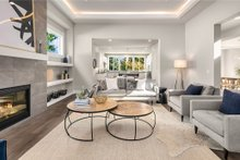 House Design - Contemporary Interior - Family Room Plan #1066-62