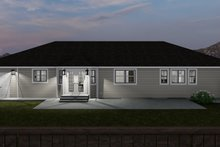 House Plan Design - Traditional Exterior - Rear Elevation Plan #1060-63