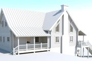 Log Style House Plan - 2 Beds 2 Baths 2112 Sq/Ft Plan #451-5 Exterior - Other Elevation