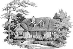 Home Plan Design - Traditional Exterior - Front Elevation Plan #14-225