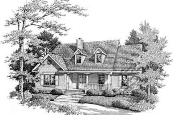 Traditional Exterior - Front Elevation Plan #14-225