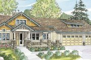 Craftsman Style House Plan - 3 Beds 3.5 Baths 4090 Sq/Ft Plan #124-753 Exterior - Front Elevation