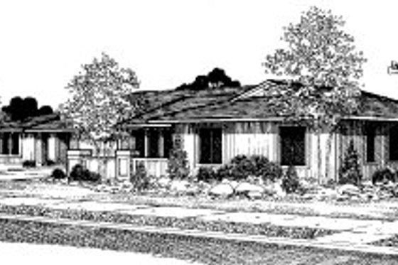 Modern Exterior - Front Elevation Plan #303-135