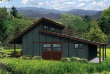 House Plan Design - Country Exterior - Front Elevation Plan #124-985
