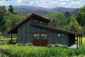 Country Exterior - Front Elevation Plan #124-985