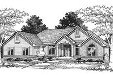 Dream House Plan - Traditional Exterior - Front Elevation Plan #70-499