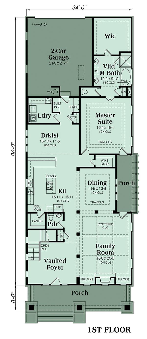 Bungalow Floor Plan - Main Floor Plan Plan #419-239