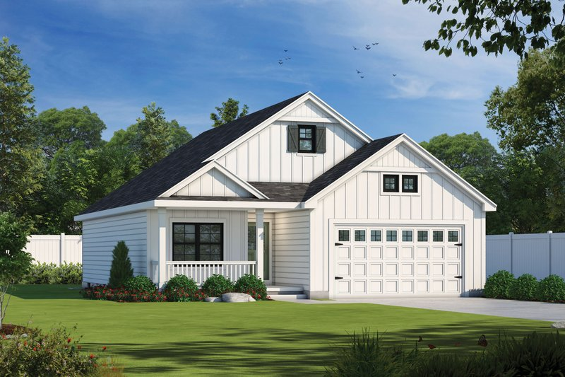 Farmhouse Style House Plan - 2 Beds 2 Baths 1387 Sq/Ft Plan #20-2355 Exterior - Front Elevation