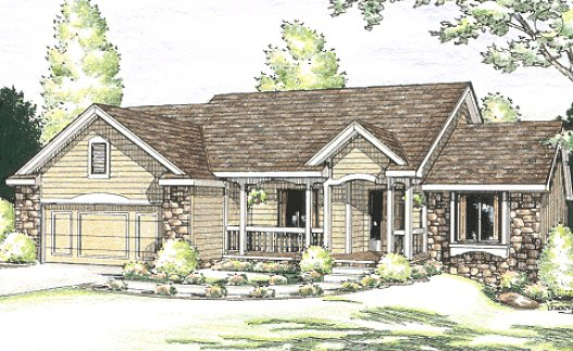 Traditional Exterior - Front Elevation Plan #20-619 - Houseplans.com