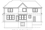 Traditional Style House Plan - 4 Beds 2.5 Baths 2428 Sq/Ft Plan #67-758 Exterior - Rear Elevation