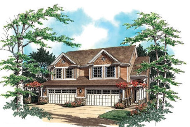 Traditional Exterior - Front Elevation Plan #48-152