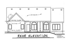 Home Plan - Traditional Exterior - Rear Elevation Plan #20-123