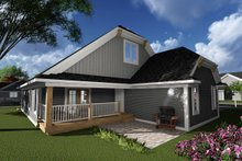 Ranch Exterior - Rear Elevation Plan #70-1242