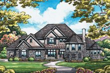 Home Plan - European Exterior - Front Elevation Plan #20-2047