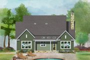 Farmhouse Style House Plan - 4 Beds 4.5 Baths 2763 Sq/Ft Plan #929-1035 Exterior - Rear Elevation