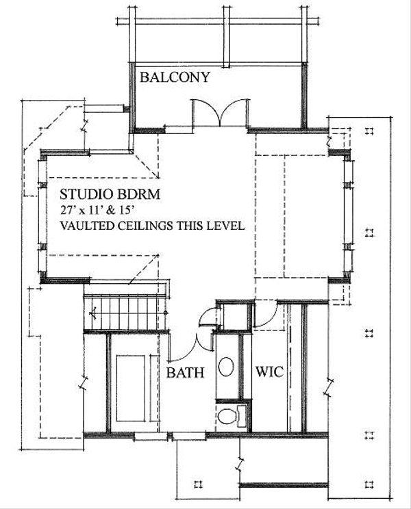 Cottage Style House Plan - 2 Beds 2 Baths 1286 Sq/Ft Plan #118-111 Floor Plan - Upper Floor Plan