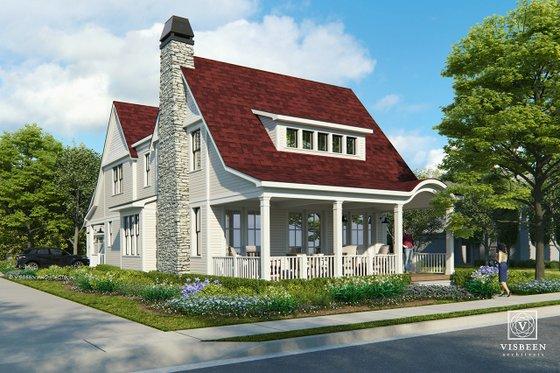 Home Plan - Farmhouse Exterior - Front Elevation Plan #928-323