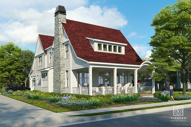 Farmhouse Style House Plan - 3 Beds 2.5 Baths 2661 Sq/Ft Plan #928-323 Exterior - Front Elevation