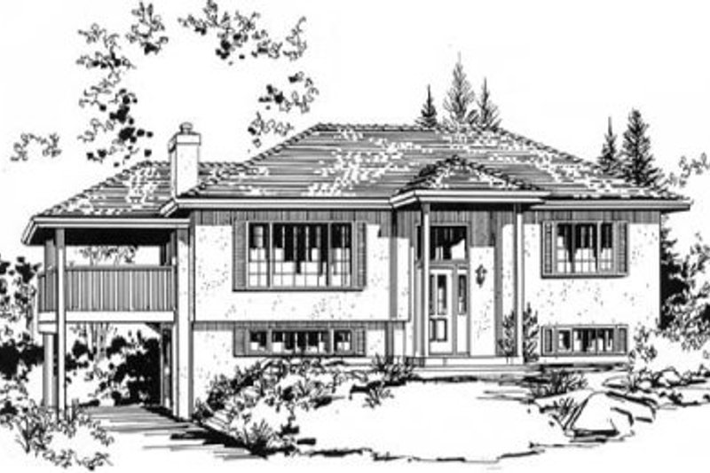 Traditional Style House Plan - 2 Beds 1.5 Baths 1058 Sq/Ft Plan #18-9065 Exterior - Front Elevation