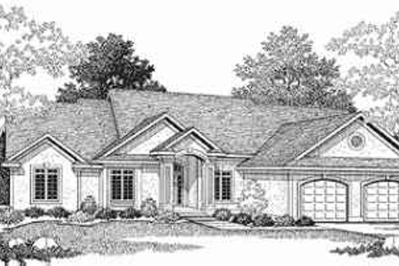 Traditional Exterior - Front Elevation Plan #70-340 - Houseplans.com