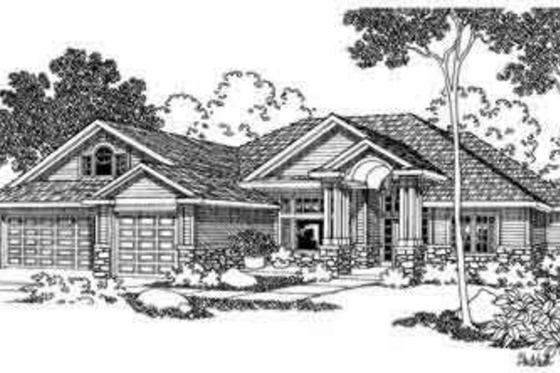 Modern Style House Plan - 4 Beds 4 Baths 3586 Sq/Ft Plan #124-377 Exterior - Front Elevation