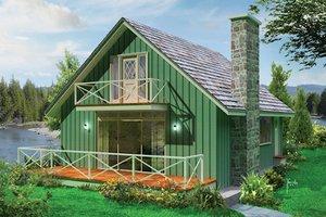 Cottage Exterior - Front Elevation Plan #57-496