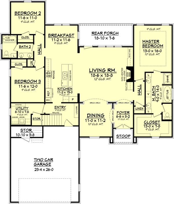 European Floor Plan - Main Floor Plan Plan #430-101