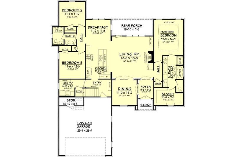 European Floor Plan - Main Floor Plan Plan #430-101