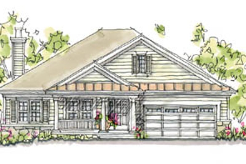 Architectural House Design - Traditional Exterior - Front Elevation Plan #20-166