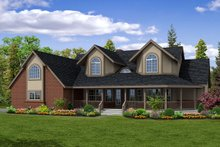 Home Plan - Farmhouse Exterior - Front Elevation Plan #124-187