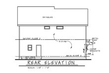 Traditional Exterior - Rear Elevation Plan #20-2327