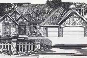 Colonial Exterior - Front Elevation Plan #310-854
