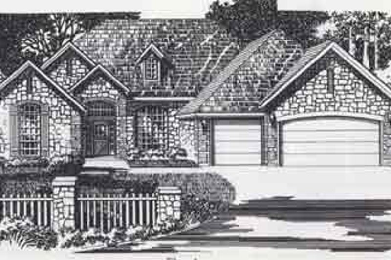 Colonial Style House Plan - 4 Beds 3 Baths 2689 Sq/Ft Plan #310-854 Exterior - Front Elevation