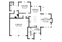 Craftsman Floor Plan - Main Floor Plan Plan #48-677