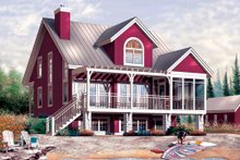 House Plan Design - Traditional Exterior - Front Elevation Plan #23-2174