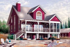 Traditional Exterior - Front Elevation Plan #23-2174