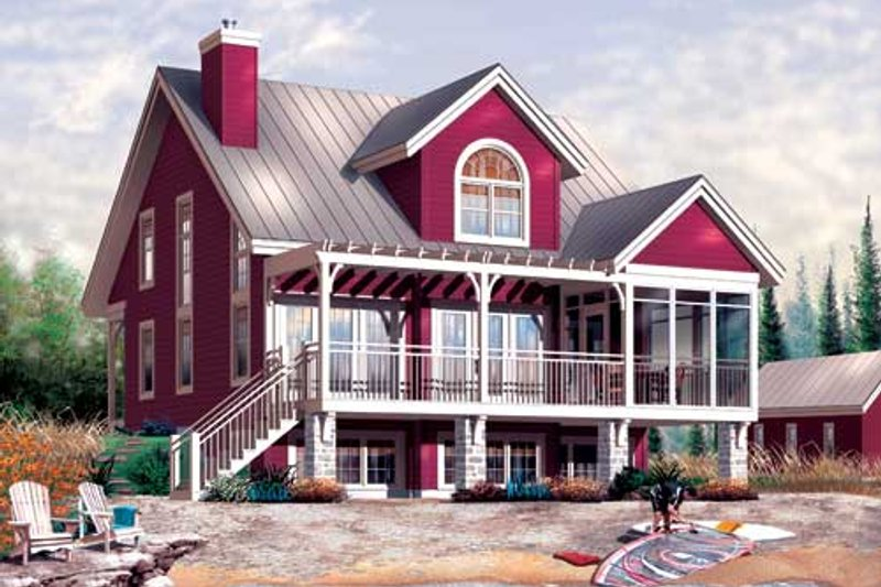 Traditional Style House Plan - 3 Beds 2 Baths 1878 Sq/Ft Plan #23-2174 Exterior - Front Elevation