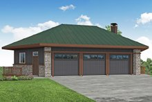 Architectural House Design - Prairie Exterior - Front Elevation Plan #124-1198