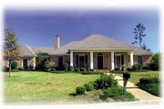 European Style House Plan - 3 Beds 2 Baths 1770 Sq/Ft Plan #36-154 Exterior - Front Elevation