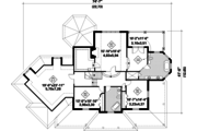 European Style House Plan - 3 Beds 2 Baths 3597 Sq/Ft Plan #25-4793 Floor Plan - Upper Floor Plan