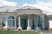 Mediterranean Style House Plan - 4 Beds 2.5 Baths 2898 Sq/Ft Plan #1-705 Photo
