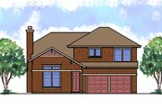 Craftsman Style House Plan - 3 Beds 2.5 Baths 1332 Sq/Ft Plan #515-21 Exterior - Front Elevation