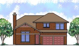 Craftsman Exterior - Front Elevation Plan #515-21
