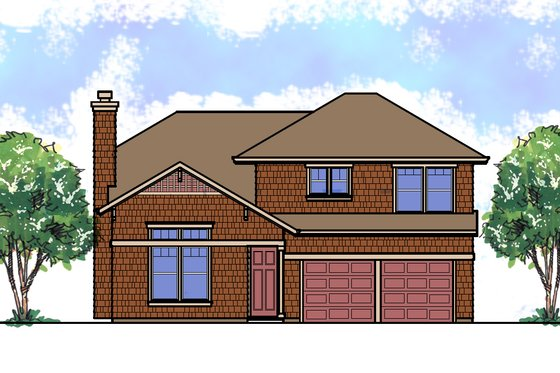 Craftsman Exterior - Front Elevation Plan #515-21