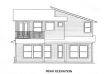 Modern Exterior - Rear Elevation Plan #472-8