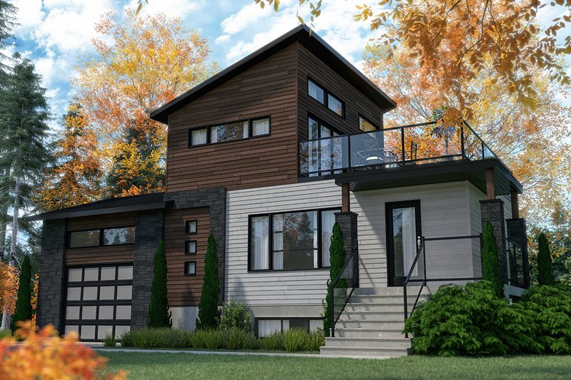 Dream House Plan - Modern Exterior - Front Elevation Plan #23-2719